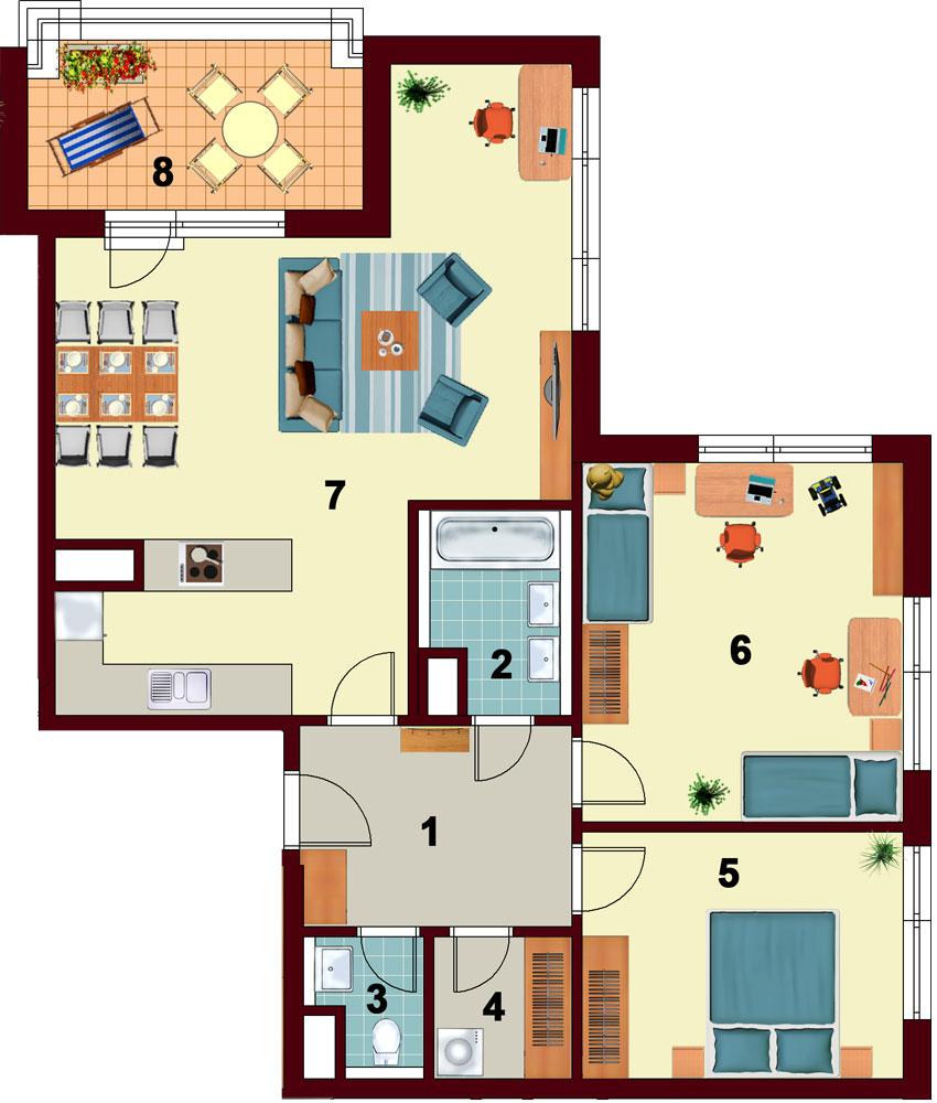 půdorys bytu